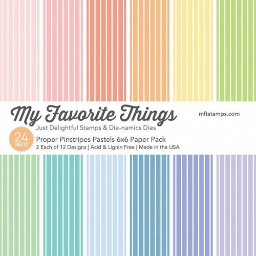 My Favorite Things Paper Pad - Proper Pinstripes Pastels
