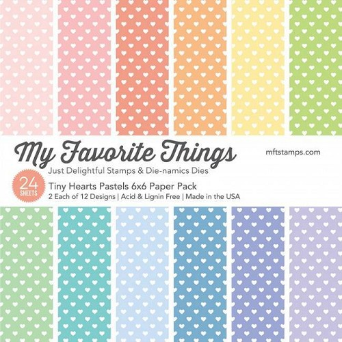 My Favorite Things Paper Pad - Tiny Hearts Pastels