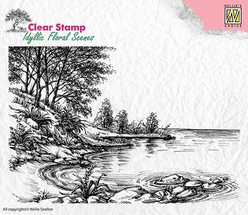 Clearstamp Nellie Snellen - Idyllic Floral Scenes - waters edge