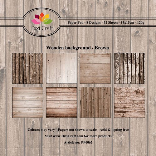 Paper Pack Dixi Craft - wooden background - brown