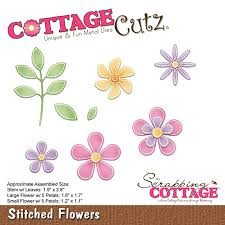 Cottage Cutz Stans - stitched flowers