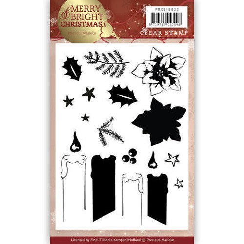 Clearstamps Precious Marieke - Merry and Bright Christmas - candle