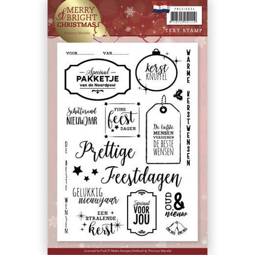 Clearstamps Precious Marieke - Merry and Bright Christmas - tekst