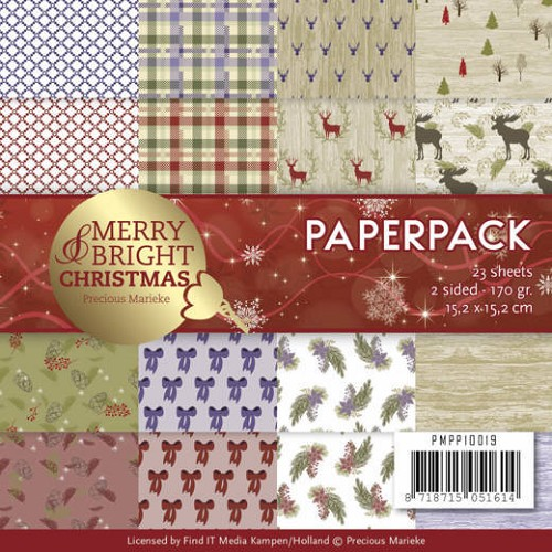 Paper Pack Precious Marieke - Merry and Bright Christmas