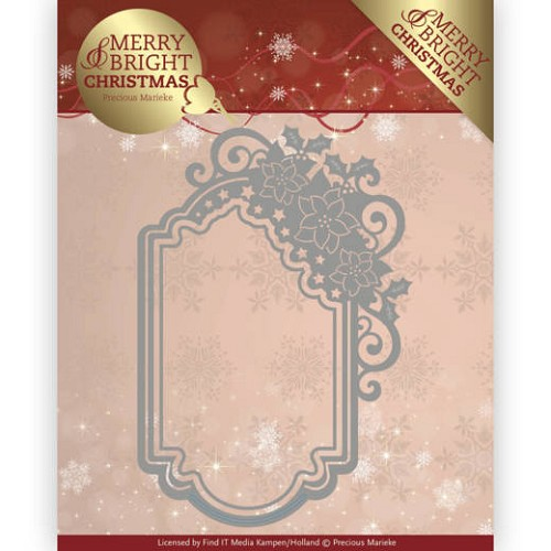 Precious Marieke Stans - Merry and Bright Christmas - poinsettia ornament