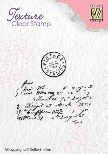 Nellie Snellen Clearstamps - Texture - writing
