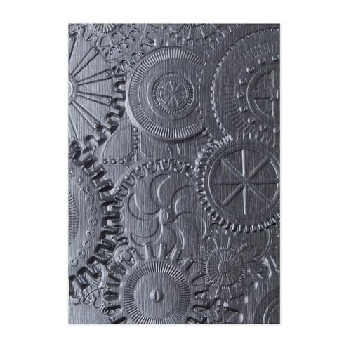 Sizzix 3D Embossing Folder - mechanics