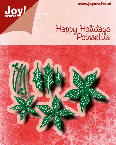 Joy Stencil - Happy Holidays - poinsettia