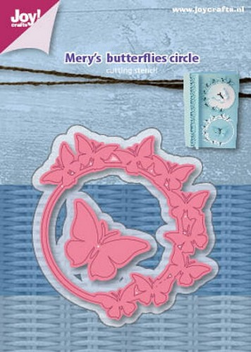 Joy Stencil - Mery`s butterflies circle
