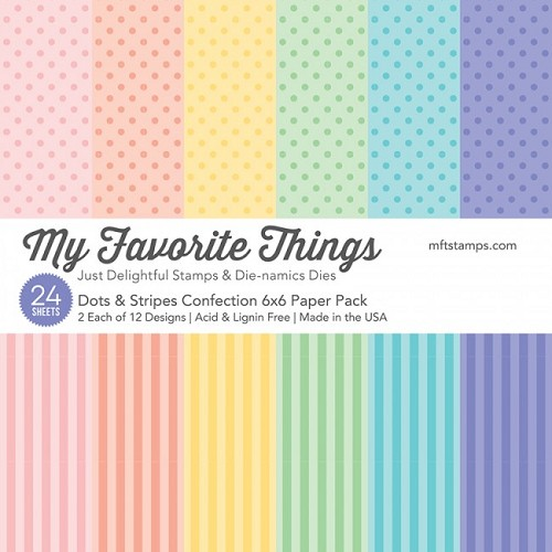 My Favorite Things Paper Pad - Dots & Stripes Confection