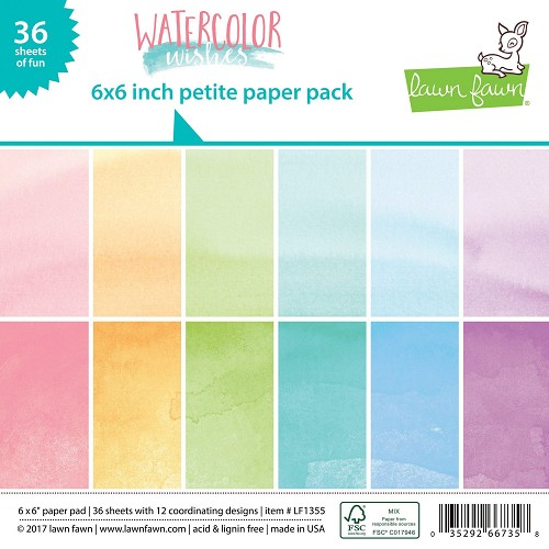 Lawn Fawn Paper Pad - Watercolor Wishes