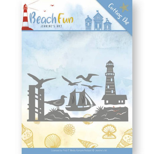 Jeanine`s Art Stans - Beach Fun - lighthouse border
