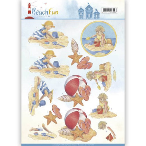 Knipvel Jeanine`s Art - Beach Fun CD11067