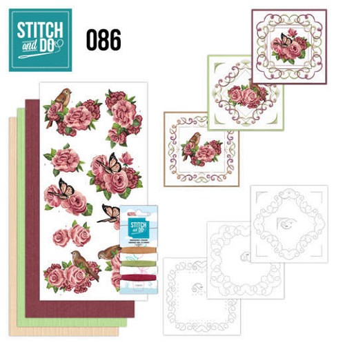 Stitch and Do Pakket - birds and roses