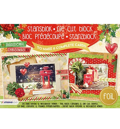 Studio Light Stansblok Foil A5 - traditional christmas