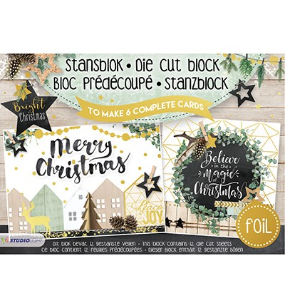 Studio Light Stansblok Foil A5 - bright christmas