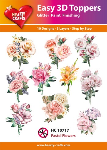 Easy 3D Toppers - pastel flowers