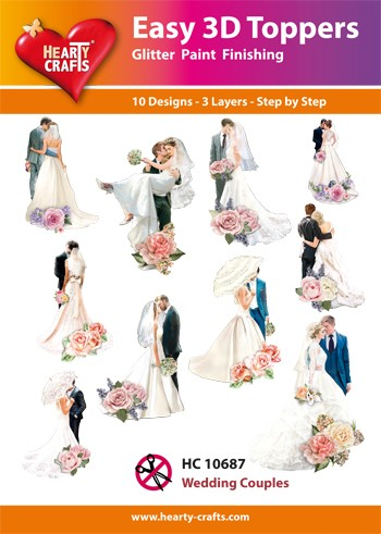 Easy 3D Toppers - wedding couples