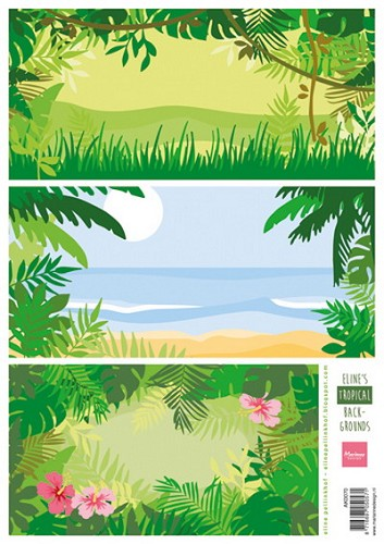 Knipvel Marianne Design - Eline`s Tropical Backgrounds