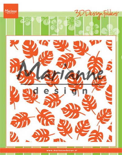 Embossing Folder Marianne Design - tropical leaves