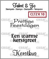 Crealies Clearstamp - Tekst & Zo K10