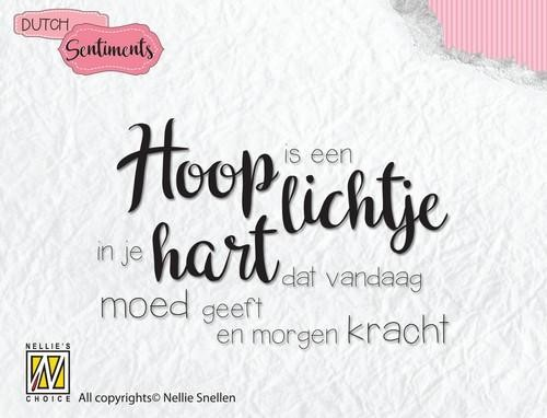 Clearstamp Nellie Snellen - Dutch Sentiments - hoop is een lichtje...