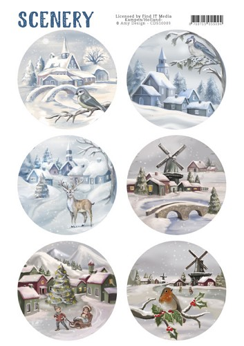 Stansvel Scenery - snow villages