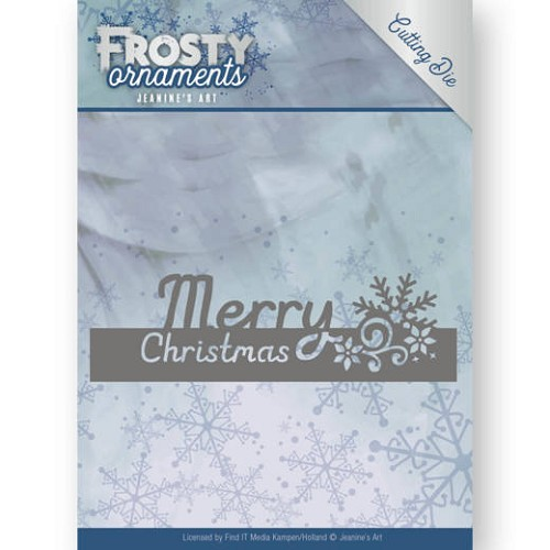Jeanine`s Art Stans - Frosty Ornaments - text merry christmas