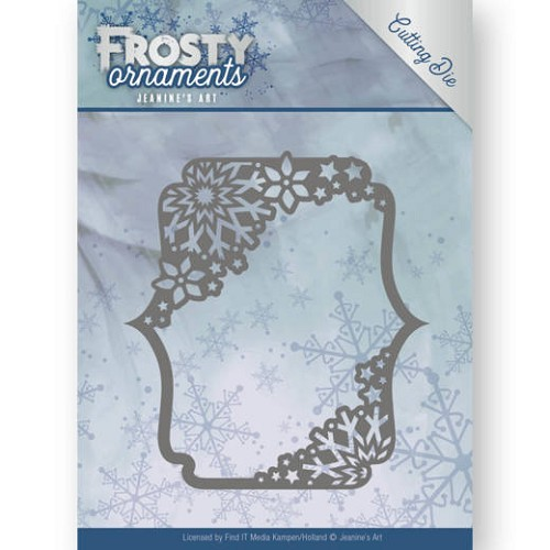 Jeanine`s Art Stans - Frosty Ornaments - rectangle ornament