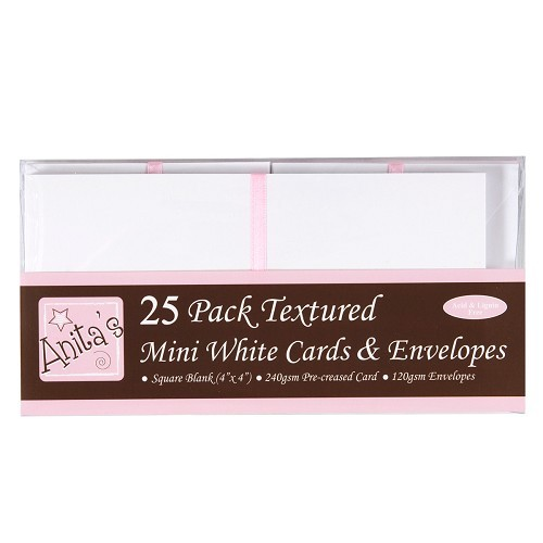 "Docrafts White Cards & Envelopes (4 x 4"")"
