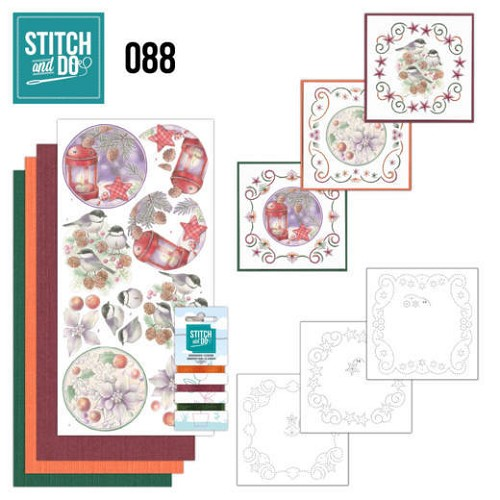Stitch and Do Pakket - christmas florals