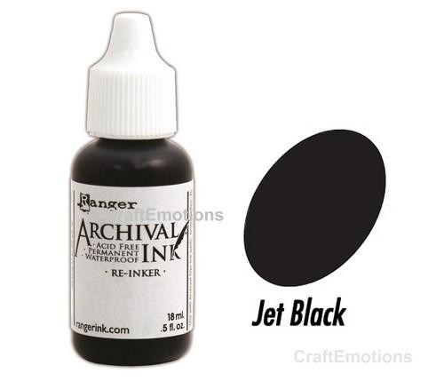 Ranger Archival Ink Refill - jet black