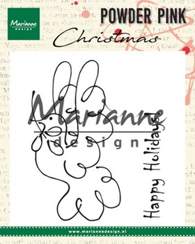 Clearstamps Marianne Design - Powder Pink Christmas - duif