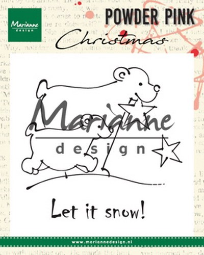 Clearstamps Marianne Design - Powder Pink Christmas - ijsberen