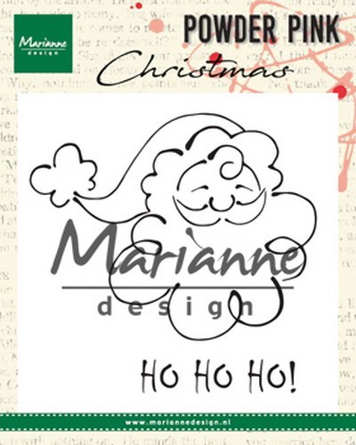 Clearstamps Marianne Design - Powder Pink Christmas - kerstman