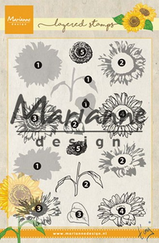Marianne Design Layered Stamps - zonnebloem