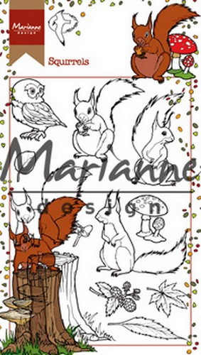 Clearstamps Marianne Design - squirrels