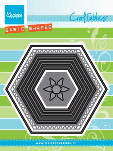 Craftables Marianne Design - Basic Hexagon