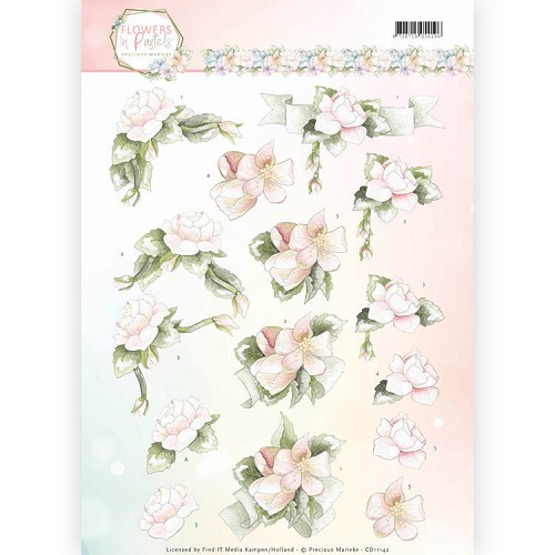 Knipvel Precious Marieke - Flowers in Pastels CD11142