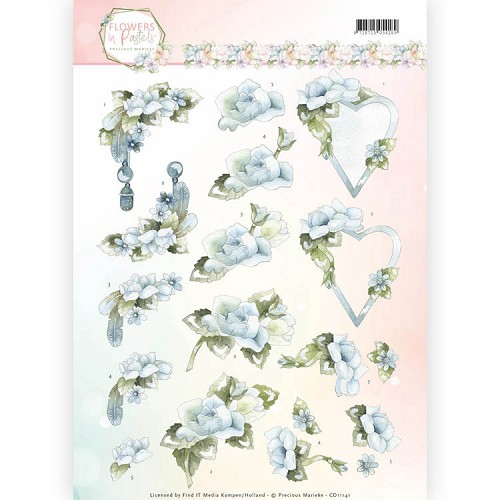 Knipvel Precious Marieke - Flowers in Pastels CD11141