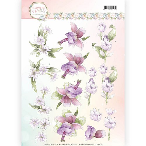 Knipvel Precious Marieke - Flowers in Pastels CD11140