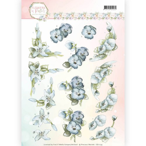 Knipvel Precious Marieke - Flowers in Pastels CD11139