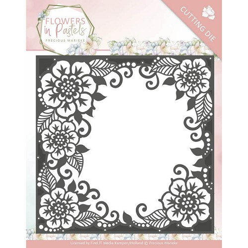 Precious Marieke Stans - Flowers in Pastels - floral frame