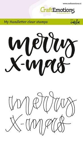 Clearstamps Craft Emotions - Handletter - Merry X-mas