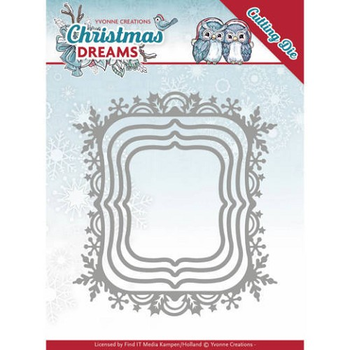 Yvonne Creations Stans - Christmas Dreams - snowflake rectangle