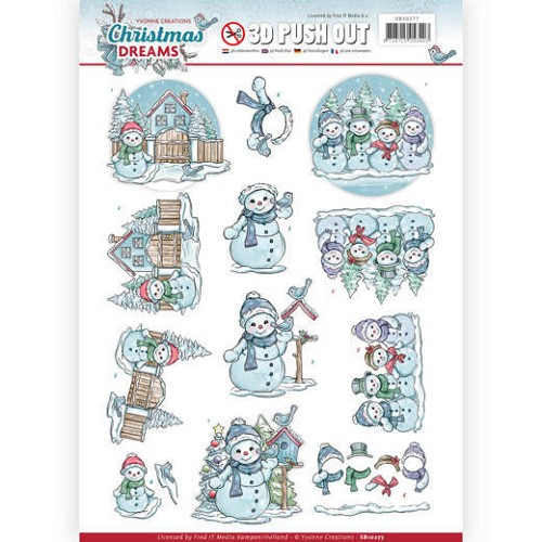 Stansvel Yvonne Creations - Christmas Dreams SB10277