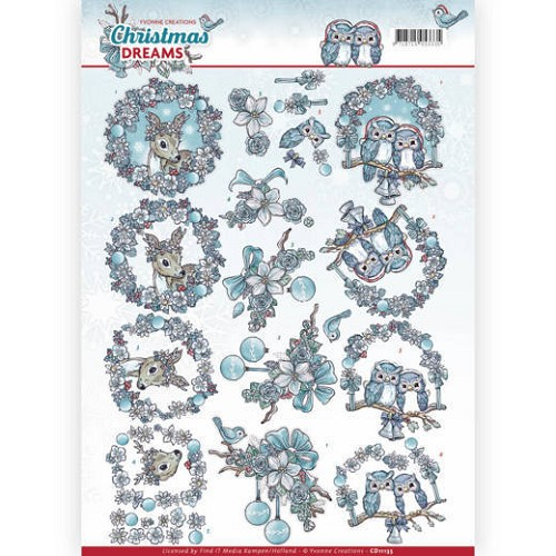 Knipvel Yvonne Creations - Christmas Dreams CD11135