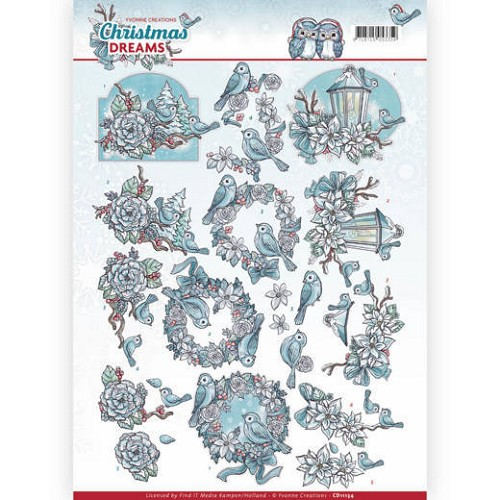 Knipvel Yvonne Creations - Christmas Dreams CD11134
