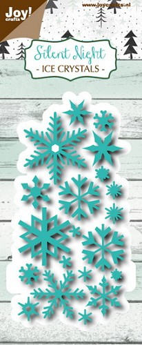 Joy Stencil - Silent Night - ice crystals