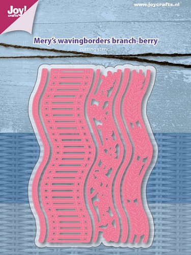 Joy Stencil - Mery`s waving borders - branch/berry